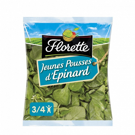 Florette salade jeunes pousses d'épinard sachet 100g