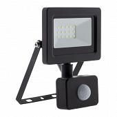 Projecteutr LED 10w noir avec detecteur ip44