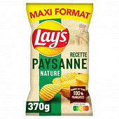 Lay's chips nature recette paysannes maxi format 370g