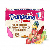Danonino aux fruits panaché 12x50g