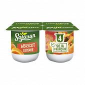 Sojasun spécialité au soja fermentée sucrée à l'abricot et à la goyave 4x100 g