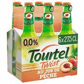 Tourtel 6x27.5cl - twist pêche 0%vol