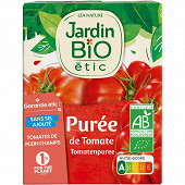Jardin bio étic purée de tomates bio 200g brique