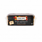 Labeyrie pain d'épices spécial foie gras finement poivré 12 tranches 150g