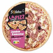 Sodébo la pizza jambon et emmental 470g