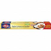 Albal papier cuisson anti-adhérent en feuilles + 25% offert