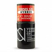 Vernis à ongles gel hybride ns n°01 rouge intense