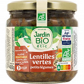 Jardin bio lentilles cuisinés aux petits légumes bio 400g