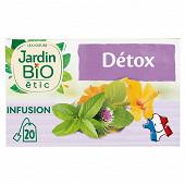 Jardin bio infusion détox bio 20 sachets + étui 30g