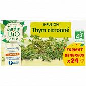 Jardin bio étic infusion thym citronné bio étui + 24 sachets 36g