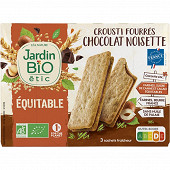 Jardin bio crousti fourrés chocolat noisette bio 170g