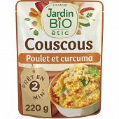 Jardin bio couscous poulet curcuma bio 220g