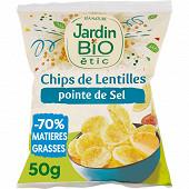 Jardin bio etic chips de lentilles pointe de sel ssg sachet 50g