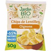 Jardin bio chips de lentilles aux petits oignons frits-ssg bio 50g