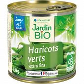 Jardin bio haricots verts sans sel ajouté bio 400g
