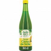 Jardin bio étic pur jus de citron bio bouteille 50cl