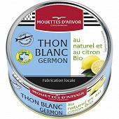 Les mouettes d'armor thon blanc germon au naturel et au citron BIO 1/5 160g