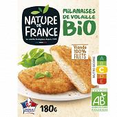 Nature de France escalope milanaise de volaille bio 180g