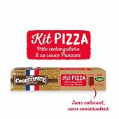 Croustipate kit pizza 1 pâte rectangulaire & 1 sauce tomate 600g