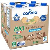 Candia lait demi écrémé bio brique 6x1l