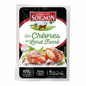 Soignon 4 palets chevre au lard fumé 4x100g 100% lait chèvre