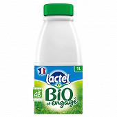 Lactel lait écrémé bio 1l