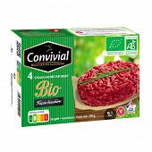 Convivial steak haché bio pur boeuf façon bouchère 15%mg 4x100g
