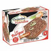 Oriental viandes le burger oignon surgelé halal 20% mg 10 x 80 g