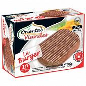 Oriental viandes beefburgers surgelés halal 20% mg 10 x 80 g