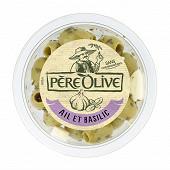 Père Olive olives ail & basilic 150g