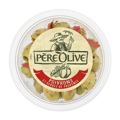 Père Olive Père Olive olives vertes & noires au thym 150g