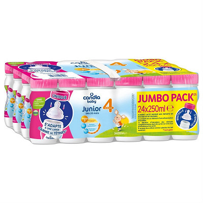 Candia Candia baby croissance 4 jumbo pack bp 25cl x 24