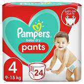 Pampers vavy dry pants couches-culottes paquet taille 4 24ct