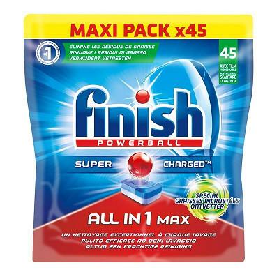 Finish Finish tout en 1 lave vaisselle graisses incruistées X45