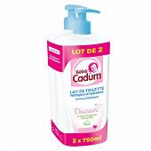 Cadum bb lait toilette lot de 2x750ml
