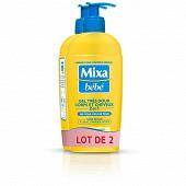 Mixa bébé gel lavant 2 en 1 corps et cheveux très doux 2x250ML