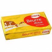 Cora beurre doux plaquette 125g