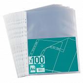 100 pochettes perforées a4 graine incolore