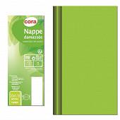 Cora nappe 20mx1m18 damassé vert anis