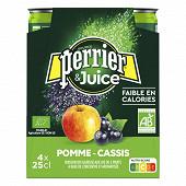 Perrier & Juice eau gazeuse aromatisée pomme cassis 4x25cl