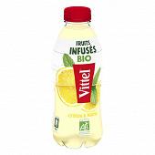 Vittel Fruits Infusés bio eau aromatisée citron menthe 75cl