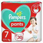 Pampers baby dry pants couches-culottes geant taille 7 30ct