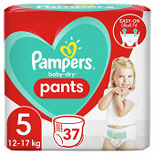 Pampers baby dry pants couches-culottes geant taille 5 37ct