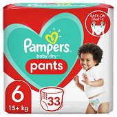 Pampers baby dry pants couches-culottes geant taille 6 33ct