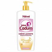 Cadum bébé crème lavante merveille miel flacon pompe 750ml