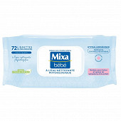 Mixa bébé lingettes eau nettoyante physiologique x72