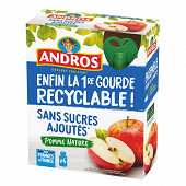 Andros gourdes pomme nature ssa 4x90g
