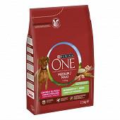 Purina one chien médium maxi contrôle de poids stérilisé dinde 2.5kg