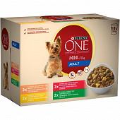 One mini chien sachets éffilés en sauce viande 10x100g