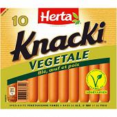 Herta knacki végétale x10 350g